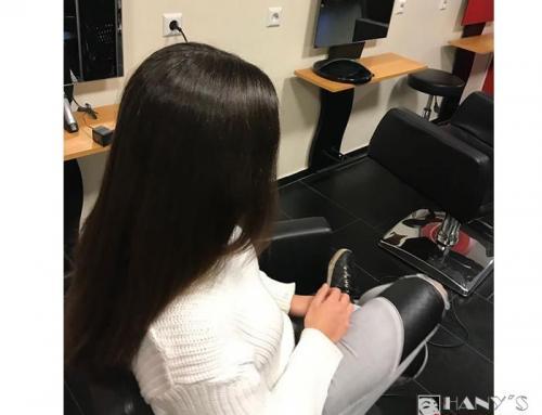 Keratin-Glättung für dunkles Haar